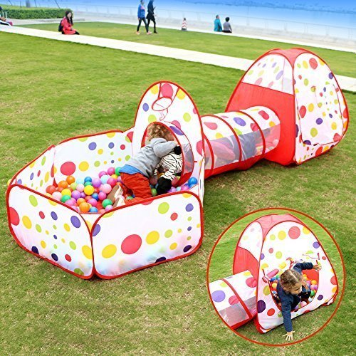 Eocusun Kids Play Tent Ball Pit Tent With Crawl Tunnel For