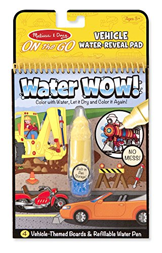 Melissa & Doug Water Wow Coloring Book - Vehicles - Epic Kids Toys